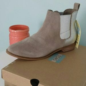 cde7c8c21a6a Toms Shoes - Desert Taupe Suede Metallic Women s Ella Booties